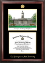 Campus Images PA994LGED Penn State  University Gold embossed diploma frame with Campus Images lithograph