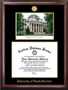 Campus Images SC995LGED University of South Carolina Gold embossed diploma frame with Campus Images lithograph