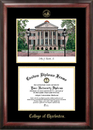 Campus Images SC998LGED College of Charleston Gold embossed diploma frame with Campus Images lithograph