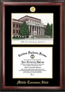 Campus Images TN999LGED Middle Tennessee State Gold embossed diploma frame with Campus Images lithograph
