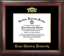 Campus Images TX949GED Texas Christian University Gold Embossed Diploma Frame