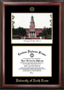 Campus Images TX952LGED University of North Texas Gold Embossed Diploma Frame with Campus Images Lithograph