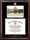 Campus Images TX953LGED Texas A&M University Gold embossed diploma frame with Campus Images lithograph