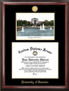 Campus Images TX954LGED University of Houston Gold embossed diploma frame with Campus Images lithograph