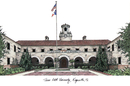 Campus Images TX982 Texas A&M Kingsville University Campus Images Lithograph Print