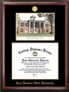 Campus Images TX988LGED Sam Houston State Gold embossed diploma frame with Campus Images lithograph