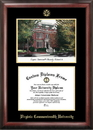 Campus Images VA983LGED Virginia Commonwealth University Gold embossed diploma frame with Campus Images lithograph