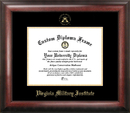 Campus Images VA984GED Virginia Military Institute Gold Embossed Diploma Frame