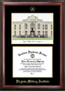 Campus Images VA984LGED Virginia Military Institute Gold embossed diploma frame with Campus Images lithograph
