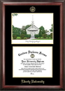 Campus Images VA989LGED Liberty University Gold embossed diploma frame with Campus Images lithograph