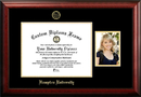 Campus Images VA990PGED-1411 Hampton University 14w x 11h Gold Embossed Diploma Frame with 5 x7 Portrait