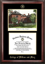 Campus Images VA991LGED College of William and Mary Gold embossed diploma frame with Campus Images lithograph