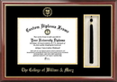 Campus Images VA991PMHGT College of William and Mary Tassel Box and Diploma Frame