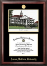Campus Images VA994LGED James Madison University Gold embossed diploma frame with Campus Images lithograph