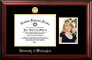 Campus Images WA995PGED-1185 University of Washington 11w x 8.5h Gold Embossed Diploma Frame with 5 x7 Portrait