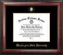 Campus Images WA996GED Washington State University Gold Embossed Diploma Frame