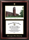 Campus Images WA996LGED Washington State University Gold embossed diploma frame with Campus Images lithograph