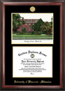 Campus Images WI994LGED University of Wisconsin  - Milwaukee Gold embossed diploma frame with Campus Images lithograph
