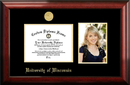 Campus Images WI995PGED-86 University of Wisconsin - Madison 8w x 6h Gold Embossed Diploma Frame with 5 x7 Portrait