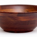 Lipper International Cherry Finished Flared Bowls