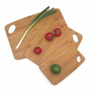 Lipper International 839 Bamboo Thin Cutting Boards with Oval Hole in Corner, Set of 3