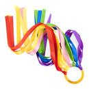 Muka 6PCS Rainbow Color Hand Kite Ribbon, Runner Wrist Ribbons 26 inches, Dancing Ring Wand Streamer