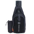 TOPTIE Sling Bag with Water Bottle Holder for Men