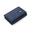 Mens Trifold Wallets with Zipper Coin Pocket, Canvas Billfold Bulk Sale with ID Window