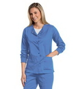 Landau 3507 Womens All Day Snap Front Warm Up Scrub Jacket