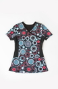 Landau 4167 Women's All Day Print Body With Knit Panels