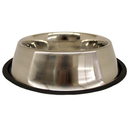 Non-Tip Stainless Steel Bowls, 64 oz