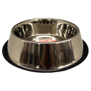 Non-Tip Stainless Steel Bowls, 96 oz