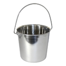 Leather Brothers Pail Stainless Steel w/ Rivets, Round