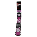 "Dogit Style Adjustable Nylon Collar with Plastic Snap for Extra Larg Dogs,18-26"" Aloha Purple"