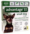 Advantage II Small Dog 3-10 lbs, 4 Pack, Green