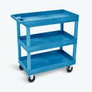 """Luxor EC111HD-BU 32"""" x 18"""" Tub Cart - Three Shelves"""