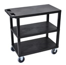 Luxor EC222HD-B 18 x 32 Cart 3 Flat shelves, Black, 18