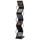 TopTie Portable Foldable Metal Literature Rack Display Holder Stand, Light Weight for Trade Show Booth Office Retail Store Showroom