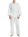 TOPTIE 7.5 oz. Elastic Drawstring Middleweight Student Uniform Martial Arts Karate