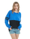 TOPTIE Women's Crewneck Pom Pom Pullover Jersey Youth Long Sleeve Baseball Tee Shirt