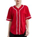 TOPTIE Women Baseball Jersey Hip Hop Hipster Button Down Baseball T Shirt