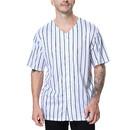 TOPTIE Sportswear Pinstripe Baseball Jersey for Men and Boy, Button Down Jersey