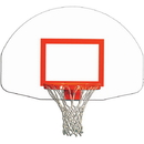 Gared 03384 Gared Fan-Shaped Indoor/Outdoor Steel Recreational Backboard