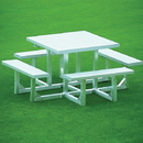 Deluxe Aluminum Square Picnic Table