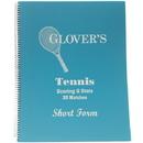 Glover's Shortform Tennis Scorebook