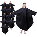 TOPTIE 10-Pack Barber Cape Salon Robe Gown Coverall with Sleeves for Unisex Hairdressing Lightweight