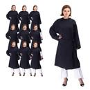 TOPTIE 10-Pack Beauty Salon Robes Client Gown Unisex, Adjustable Front Closure, Lightweight