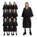 TOPTIE 10-Pack Spa Robe Beauty Salon Smock for Women Kimono Client Uniform Polyester Premium Quality Large
