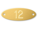 Salsbury Industries 11160 Custom Engraved Name/Number Plate - for Solid Oak Executive Wood Locker Door
