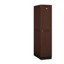 Salsbury Industries 11164DRK Solid Oak Executive Wood Locker - Single Tier - 1 Wide - 6 Feet High - 24 Inches Deep - Dark